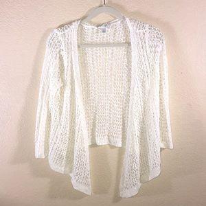 Knit cardigan white size small